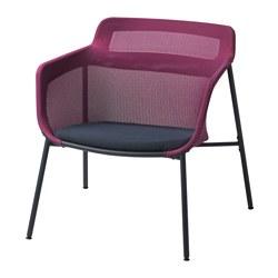 IKEA PS 2017 fauteuil, rose, bleu