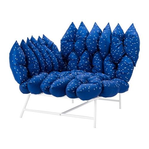 ikea ps 2017 fauteuil d 39 angle 18 coussins blanc bleu. Black Bedroom Furniture Sets. Home Design Ideas