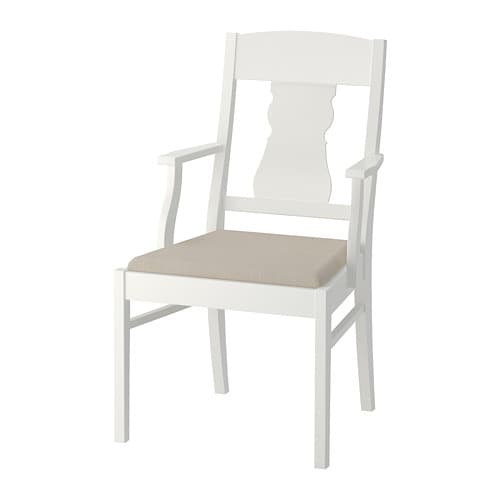 Ingatorp chaise avec accoudoirs ikea for Chaise assis genoux ikea