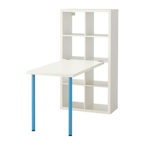 Kallax Composition De Bureau Blanc Bleu Ikea