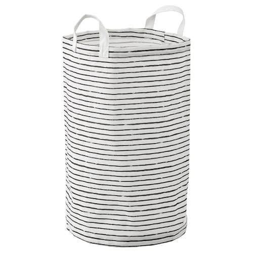 KLUNKA sac à linge blanc/noir 60 cm 36 cm 60 l