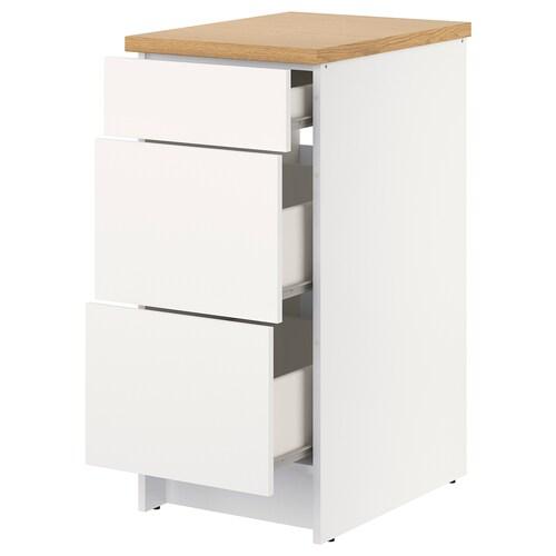 KNOXHULT élément bas avec tiroirs blanc 42.0 cm 40.0 cm 61.0 cm 91.0 cm
