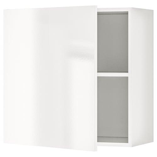 KNOXHULT élément mural avec porte brillant blanc 60 cm 31 cm 60 cm