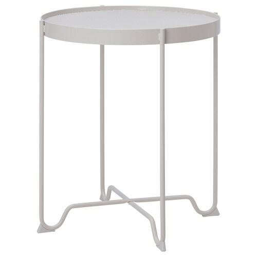 KROKHOLMEN table d'appoint, extérieur beige 60 cm 50 cm
