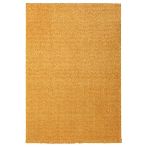 LANGSTED tapis, poils ras jaune 195 cm 133 cm 13 mm 2.59 m² 2500 g/m² 1030 g/m² 9 mm