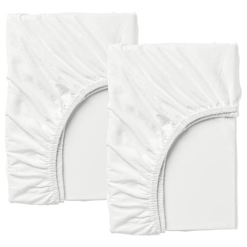 LEN drap-housse lit extensible, 2p blanc