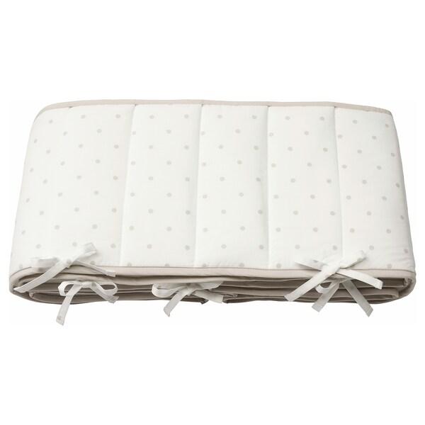 LENAST tour de lit bébé à pois/blanc gris 120 cm 60 cm