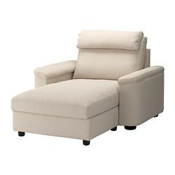 LIDHULT chaise longue, Gassebol beige clair