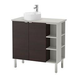 LILLÅNGEN/VISKAN /GUTVIKEN Élément pour lavabo à 2 portes/2 éléments complémentaires