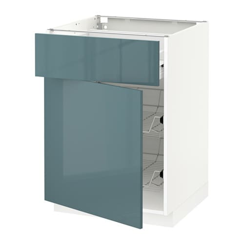 metod f rvara l ment bas avec corbeille m tallique tiroir porte blanc kallarp gris. Black Bedroom Furniture Sets. Home Design Ideas