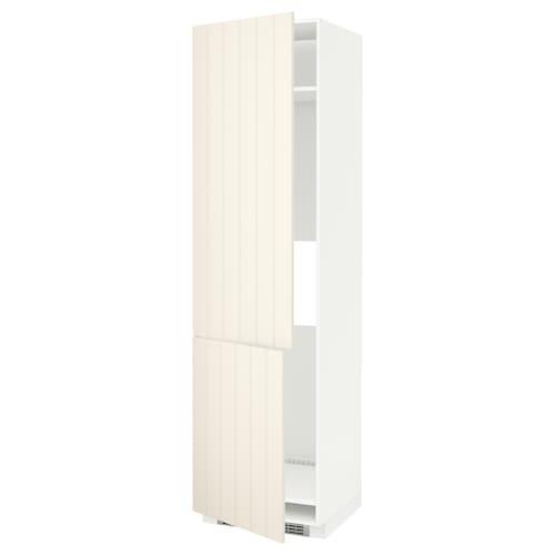 METOD armoire réfr/cong 2ptes blanc/Hittarp blanc cassé 60.0 cm 61.8 cm 228.0 cm 60.0 cm 220.0 cm