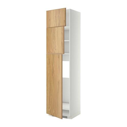 Metod armoire pour r frig rateur 3 portes blanc hyttan plaqu ch ne ikea - Armoire 3 portes ikea ...