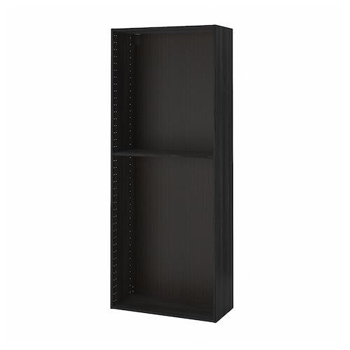 METOD structure élément armoire effet bois noir 36.6 cm 37.6 cm 80.0 cm 37.0 cm 200.0 cm