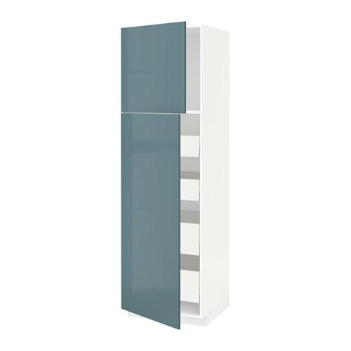 metod maximera l ment haut avec 2 portes 4 tiroirs blanc kallarp gris turquoise ultra. Black Bedroom Furniture Sets. Home Design Ideas