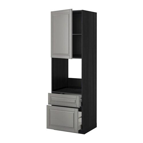 metod maximera l ment haut pour four porte 2 tiroirs noir aspect bois bodbyn gris. Black Bedroom Furniture Sets. Home Design Ideas