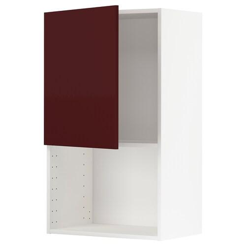 METOD él mural pr micro-ondes blanc Kallarp/brillant brun-rouge foncé 60.0 cm 38.6 cm 100.0 cm