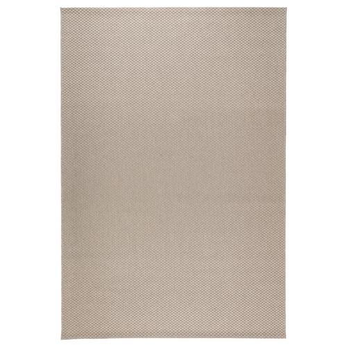 MORUM tapis tissé à plat, int/extérieur beige 230 cm 160 cm 5 mm 3.68 m² 1385 g/m²