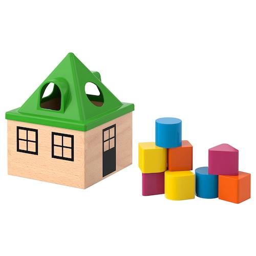 MULA boîte à formes multicolore 16 cm 16 cm 21 cm