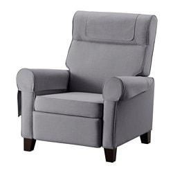 MUREN fauteuil confort, Gris moyen Nordvalla