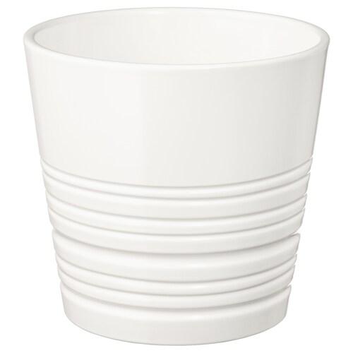 MUSKOT cache-pot blanc 14 cm 15 cm 12 cm 14 cm