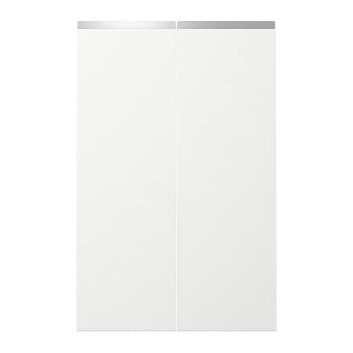 nodsta porte l ment bas d 39 angle 2 pcs droite blanc. Black Bedroom Furniture Sets. Home Design Ideas