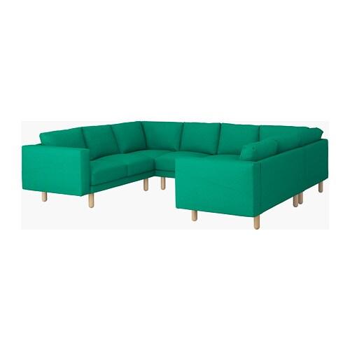 norsborg canap en u 6 places edum vert vif bouleau ikea. Black Bedroom Furniture Sets. Home Design Ideas