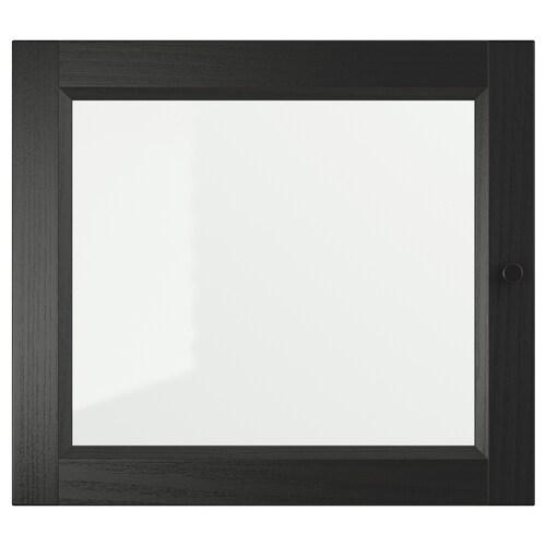 OXBERG porte vitrée brun noir 40 cm 35 cm