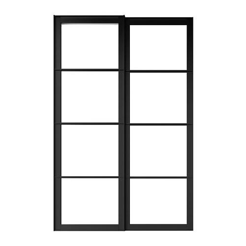 Pax Paire De Cadres De Portes Coulissantes Avec Rail  X Cm  Ikea