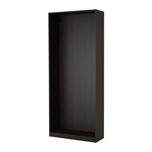 pax caisson d 39 armoire noir brun ikea. Black Bedroom Furniture Sets. Home Design Ideas