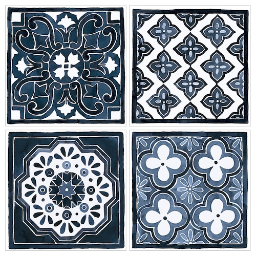 PJÄTTERYD reproduction motifs bleus 30 cm 30 cm 4 pièces