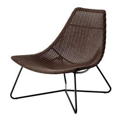 RÅDVIKEN fauteuil, brun foncé, noir