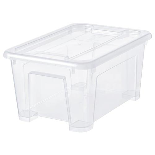 SAMLA boîte avec couvercle transparent 28 cm 20 cm 14 cm 5 l