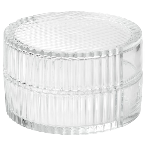 SAMMANHANG boîte d'exposition avec couvercle verre transparent 8 cm 13 cm