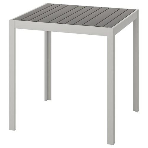 SJÄLLAND table, extérieur gris foncé/gris clair 71 cm 71 cm 73 cm