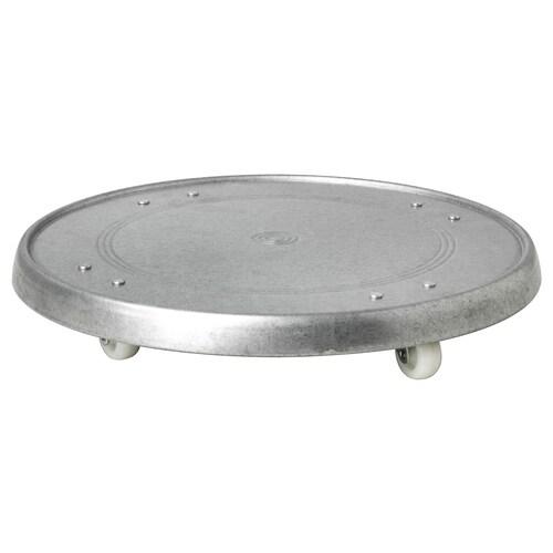SOCKER porte-plantes roulant intérieur/extérieur/acier zingué 4 cm 31 cm 35 kg