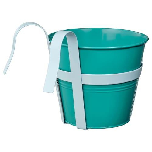SOCKER pot avec support intérieur/extérieur turquoise 17 cm 20 cm 17 cm 18 cm