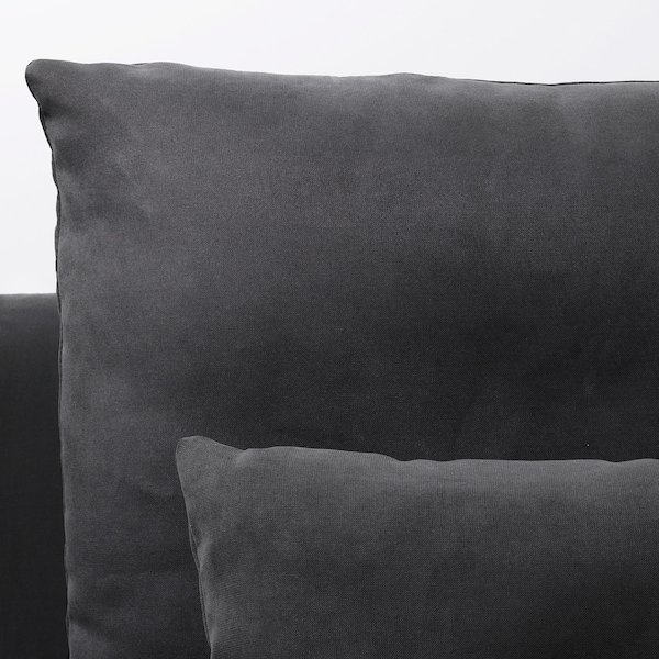 SÖDERHAMN canapé 2 places avec méridienne/Samsta gris foncé 83 cm 69 cm 151 cm 186 cm 99 cm 122 cm 14 cm 70 cm 39 cm