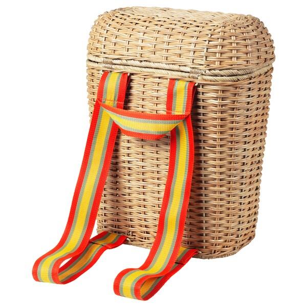 SOLBLEKT sac à dos rotin 33 cm 18 cm 42 cm 7 kg 20 l