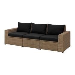 SOLLERÖN canapé modulable 3 places, extérieur