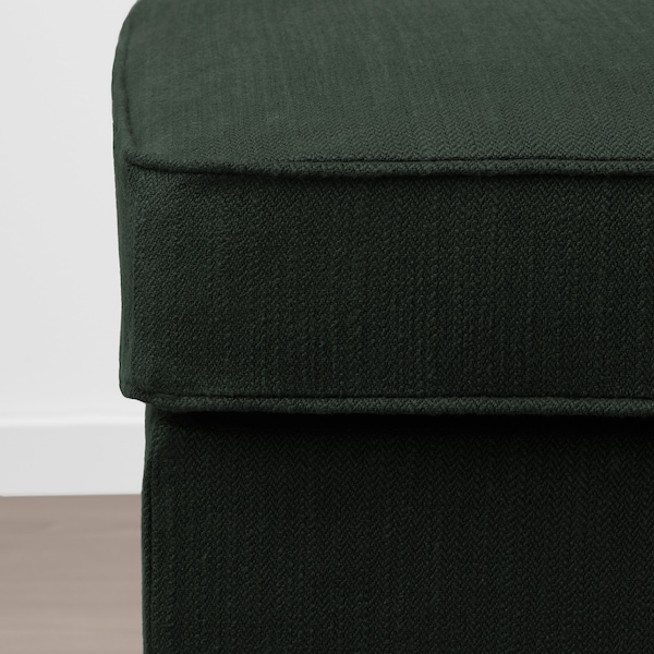 STOCKSUND banquette Nolhaga vert foncé/noir/bois 144 cm 49 cm 47 cm