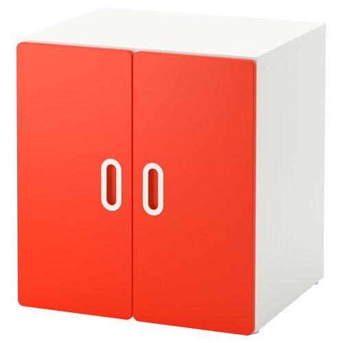 STUVA / FRITIDS meuble de rangement blanc/rouge 60 cm 50 cm 64 cm