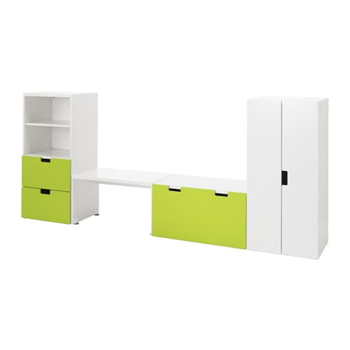 stuva banc de rangement blanc vert ikea. Black Bedroom Furniture Sets. Home Design Ideas