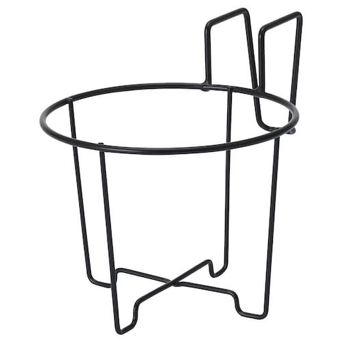 SVARTPEPPAR support pour cache-pot intérieur/extérieur/noir 16 cm 12 cm 16 cm