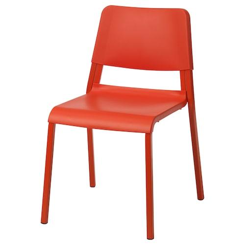 TEODORES chaise orange vif 110 kg 46 cm 54 cm 80 cm 40 cm 37 cm 45 cm