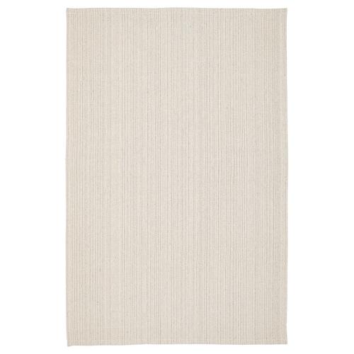 TIPHEDE tapis tissé à plat naturel/blanc cassé 180 cm 120 cm 2 mm 2.16 m² 700 g/m²