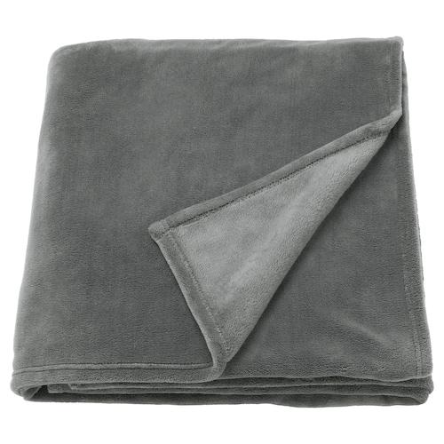 TRATTVIVA couvre-lit gris 250 cm 150 cm