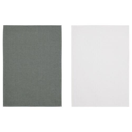 TROLLPIL torchon blanc/vert 70 cm 50 cm 2 pièces