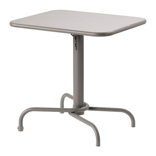 Tunholmen table ext rieur gris ikea for Table financiere