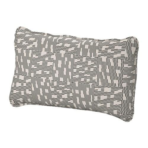 vallentuna housse pour coussin de dossier funnarp noir beige ikea. Black Bedroom Furniture Sets. Home Design Ideas