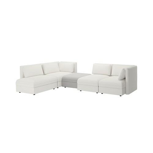 vallentuna canap d 39 angle modulable 4 places avec rangement murum orrsta blanc gris clair ikea. Black Bedroom Furniture Sets. Home Design Ideas
